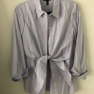 Button down shirt with tie at waist. NWT